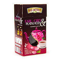 Чай Earl-Grey Big-Active с лепестками розы 80 гр Польша